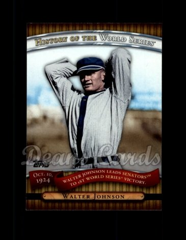 2010 Topps History of the World Series #2 HWS  -  Walter Johnson History of the World Series