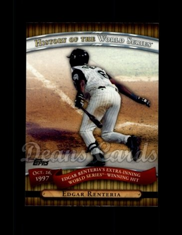 2010 Topps History of the World Series #20 HWS  -  Edgar Renteria History of the World Series