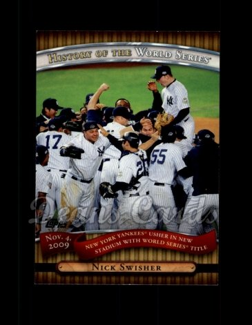 2010 Topps History of the World Series #25 HWS  History of the World Series - New York Yankees