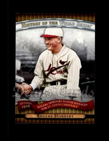 2010 Topps History of the World Series #4 HWS  -  Rogers Hornsby History of the World Series