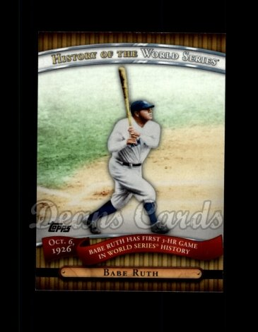 2010 Topps History of the World Series #5 HWS  -  Babe Ruth History of the World Series