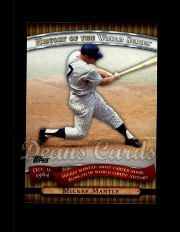 2010 Topps History of the World Series #6 HWS  -  Mickey Mantle History of the World Series
