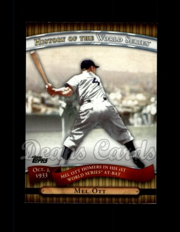 2010 Topps History of the World Series #7 HWS  -  Mel Ott History of the World Series