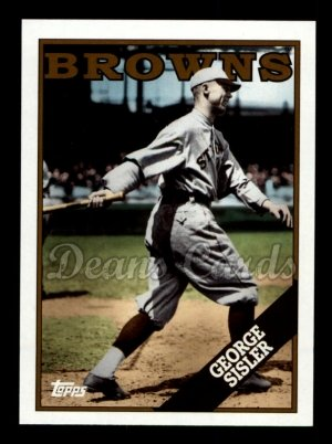 2010 Topps Vintage Legends #5 VLC George Sisler