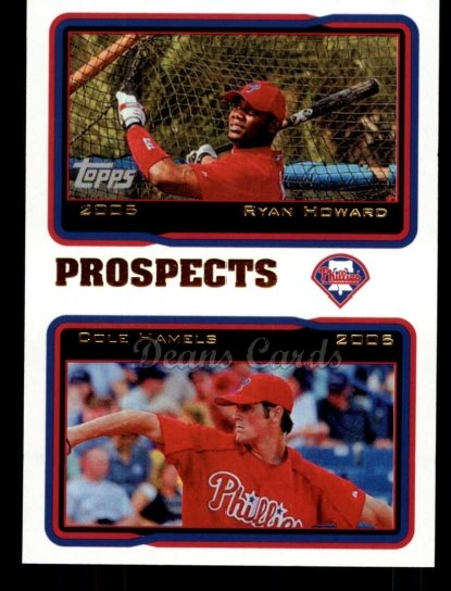 2010 Topps Cards Your Mom Threw Out #54 CMT Ryan Howard / Cole Hamels