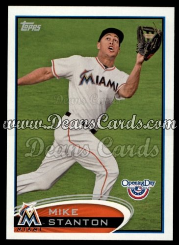 2012 Topps Opening Day #92  Mike Stanton