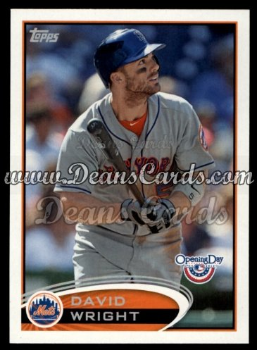 2012 Topps Opening Day #187  David Wright