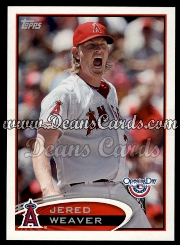 2012 Topps Opening Day #209  Jered Weaver