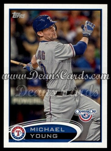 2012 Topps Opening Day #28  Michael Young