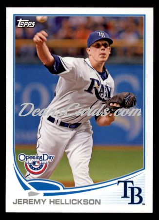 2013 Topps Opening Day #31  Jeremy Hellickson