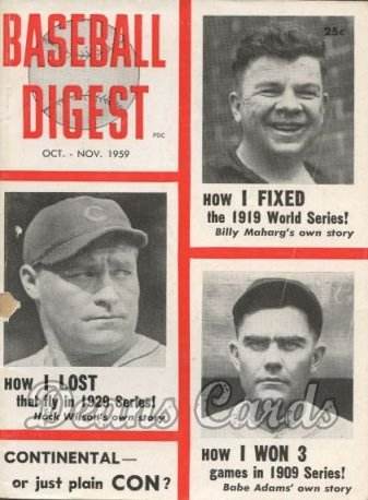 1959 Baseball Digest    October  - World Series