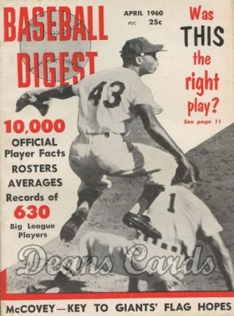 1960 Baseball Digest   -  Charlie Neal / Jim Landis  April