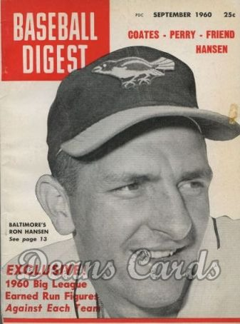 1960 Baseball Digest   -  Ron Hansen  September