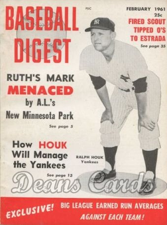1961 Baseball Digest   -  Ralph Houk  February