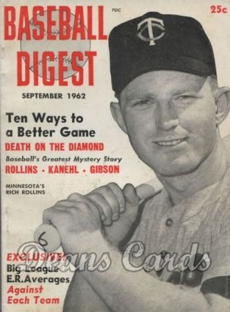 1962 Baseball Digest   -  Rich Rollins  September