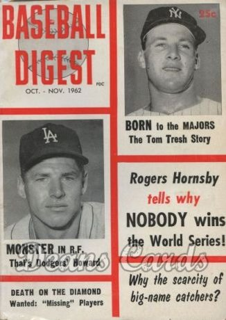 1962 Baseball Digest   -  Tom Tresh  October