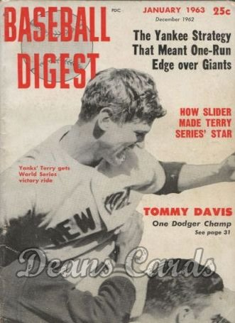 1963 Baseball Digest   -  Ralph Terry  January