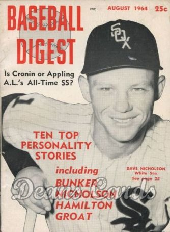 1964 Baseball Digest   -  Dave Nicholson  August