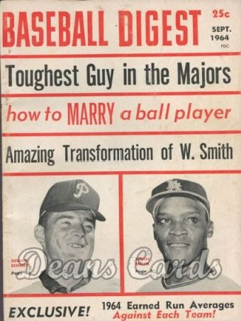 1964 Baseball Digest   -  Bennett / W. Smith  September