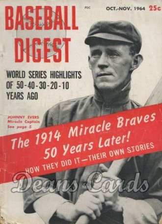 1964 Baseball Digest    October  '14 Miracle Braves