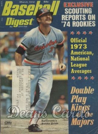 1974 Baseball Digest   -  Bobby Grich  March