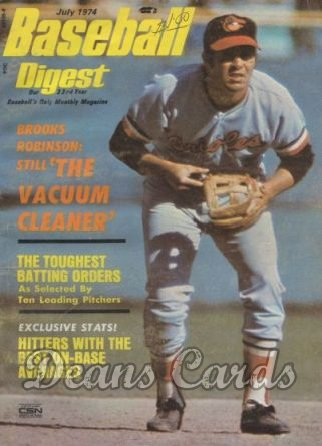 1974 Baseball Digest   -  Brooks Robinson  July