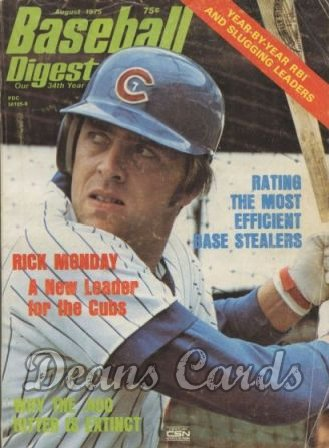 1975 Baseball Digest   -  Rick Monday  August
