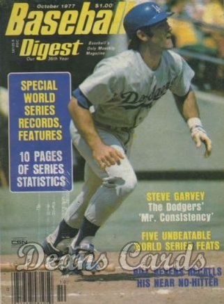 1977 Baseball Digest   -  Steve Garvey  October