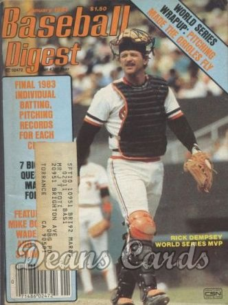 1984 Baseball Digest   -  Rick Dempsey  January