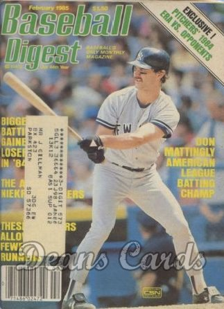 1985 Baseball Digest   -  Don Mattingly  February