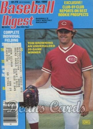 1986 Baseball Digest   -  Tom Browning  March