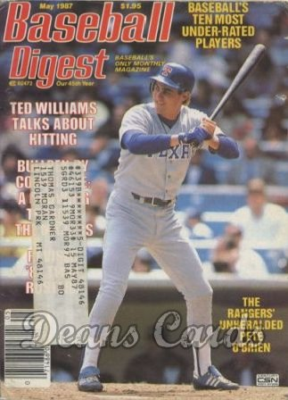 1987 Baseball Digest   -  Pete O'Brien  May