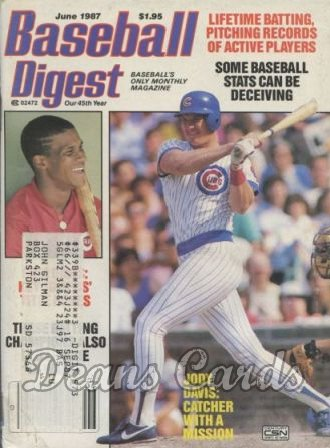 1987 Baseball Digest   -  Jody Davis  June