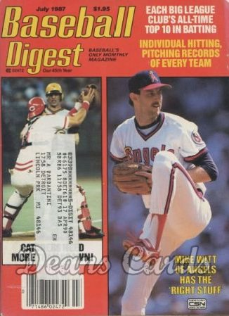 1987 Baseball Digest   -  Mike Witt  July