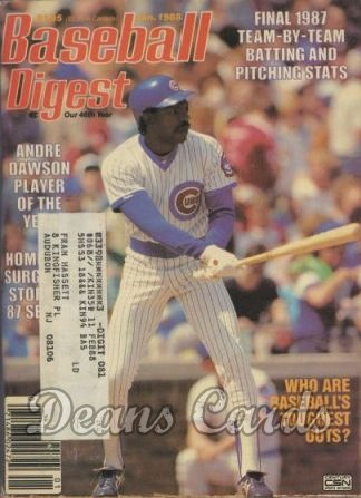 1988 Baseball Digest   -  Andre Dawson  January