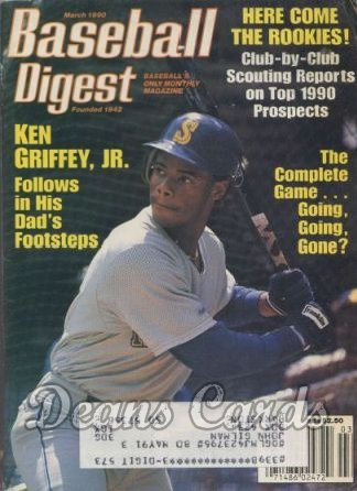 1990 Baseball Digest   -  Ken Griffey Jr.  March