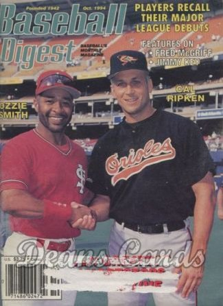 1994 Baseball Digest   -  Ozzie Smith / Cal Ripken  October