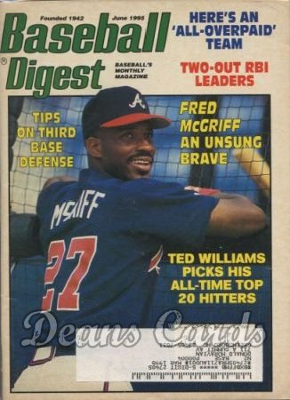 1995 Baseball Digest   -  Fred McGriff  June