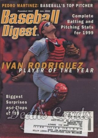 2000 Baseball Digest   -  Ivan Rodriguez  January