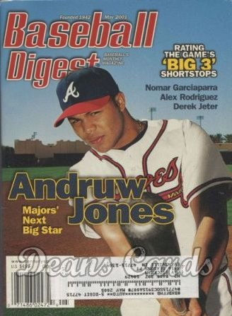 2001 Baseball Digest   -  Andruw Jones  May