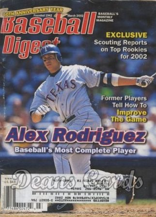 2002 Baseball Digest   -  Alex Rodriguez  March