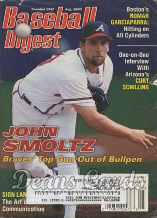 2003 Baseball Digest   -  John Smoltz  August