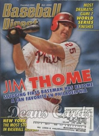 2004 Baseball Digest   -  Jim Thome  October