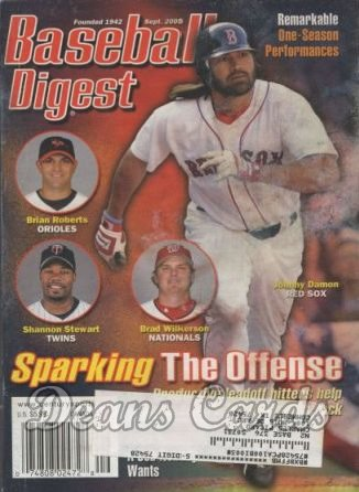 2005 Baseball Digest   -  Johnny Damon  September