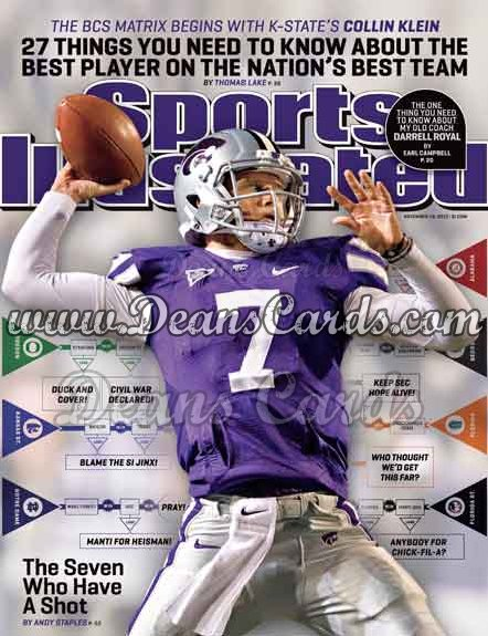 2012 Sports Illustrated   November 19  -  Collin Klein / Kansas State Wildcats / The Seven Who Have a Shot