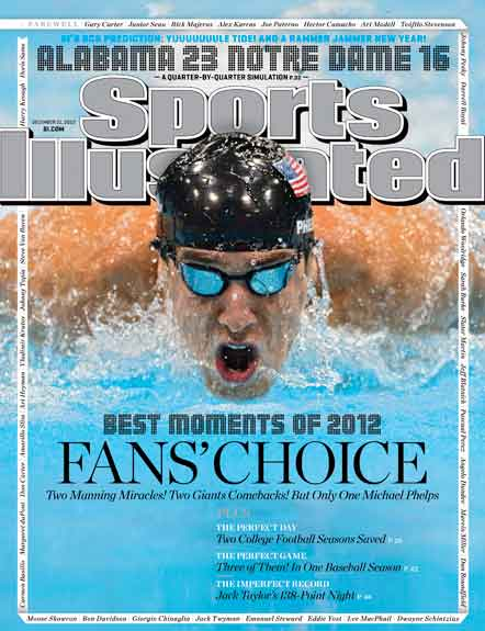 2012 Sports Illustrated   December 13  -  Michael Phelps