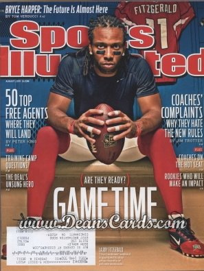 2011 Sports Illustrated - With Label   August 1  -  Larry Fitzgerald / Gametime