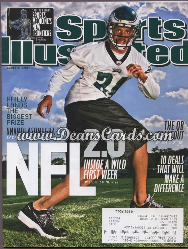 2011 Sports Illustrated - With Label   August 8  -  Mnamdi Asomugha / NFL 2.0