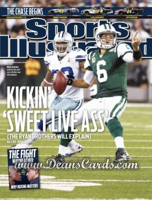 2011 Sports Illustrated - With Label   September 19  -  Mark Sanchez / New York Jets