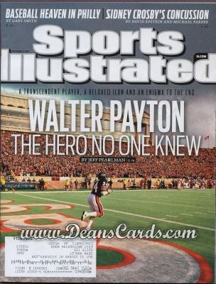 2011 Sports Illustrated   October 3  -  Walter Payton / The Hero No One Knew
